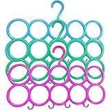 ZZ ZONEX 10-Circle Plastic Ring Hanger for Scarf, Shawl, Tie, Belt, Closet Accessory Wardrobe Organizer Set of 2