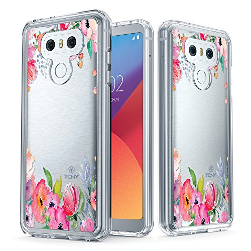 iPhone 6s Tropical Case - True Color Clear-Shield Tropical Watercolor Flowers Printed on Clear Back - Perfect Soft and Hard Thin Shock Absorbing Dustproof Full Protection Bumper Cover Coloful Watercolor Flowers