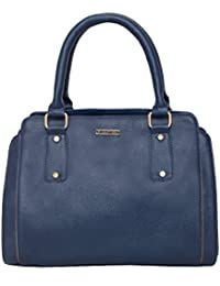 Heart Held Woman's Hand Held Bag Blue