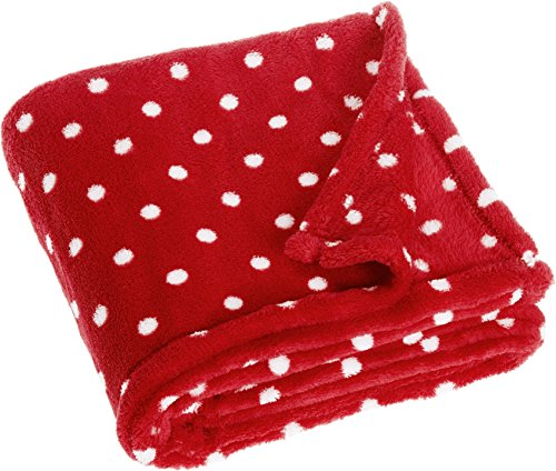 Playshoes 301705 Fleecedecke, Babydecke, Kuscheldecke Punkte, Maße ca. 75 x 100 cm, Oeko-Tex Standard 100