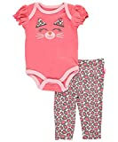 Buster Brown Baby Girls Cute Cat 2-Piece Outfit - coral