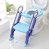 KEPLIN Siège de Toilette Enfant Pliable et Réglable, Reducteur de Toilette Bébé avec Marches Larges, Lunette de Toilette Confortable Matériaux de Haute Qualité