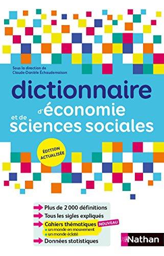 Dictionnaire d'économie et de sciences sociales par Claude-Danièle Echaudemaison