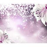 decomonkey | Papier peint intissé Fleurs Lys 350x256 cm Trompe l oeil | Déco Mural Tableaux Muraux Photo Abstrait Abstraction rose