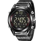jeiso Sport Style Smart Armbanduhr mit Alloy Fall, edelstahlgewebeschlauch Stahl, wasserdicht Sport Schrittzähler, Fernbedienung Kamera, Anrufer Informationen, soziale App Reminder Funktion