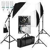BPS Kit Softbox Completo Ventana de Luz, 1875W Iluminación Continua de Estudio Fotografía, Equipo Profesional para Retrato Vídeo Filmación