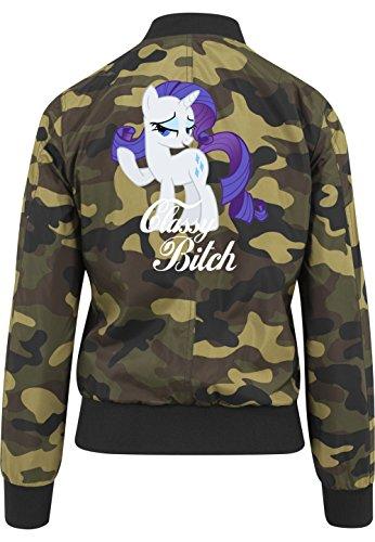 Classy Bitch Pony Bomberjacke Girls Camouflage Certified Freak-S