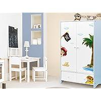 """I-love-Wandtattoo ILWS-19-008 Kinderzimmer Möbelsticker Set """"Pirat"""" zum Kleben Möbeltattoo Möbelaufkleber Möbeldeko Sticker Seeräuber"""