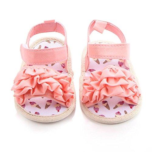 Chaussures Fille, IMJONO Bambin Chaussures de Fille Fleur Soft Sole antidérapant Baskets Des sandales Rose