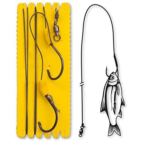 Black Cat Bouy and Boat Ghost Single Hook Rig 1,40m 100kg Wall errig pour poissons Leurre de montage, aux silures Montage pour la pêche, 6/0