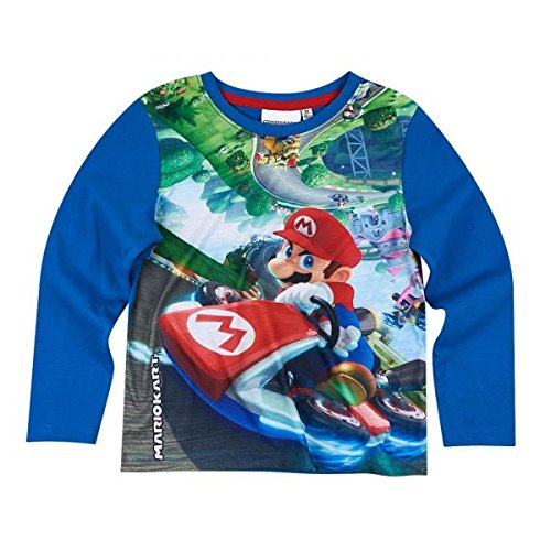Super Mario Bros Chicos Camiseta mangas largas - Azul - 134