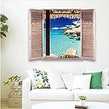 Lbonb Malediven Ocean Sea Beach Wave Wand Kunst Aufkleber Wandbild Aufkleber Room Decor Gefälschte Fenster 3D Wandaufkleber