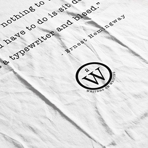 Writers On Writing Ernest Hemingway Nothing To Writing Women's Vest White