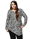 Best uxcell White Blouses - uxcell Agnes Orinda Women's Plus Size Zebra Asymmetric Review