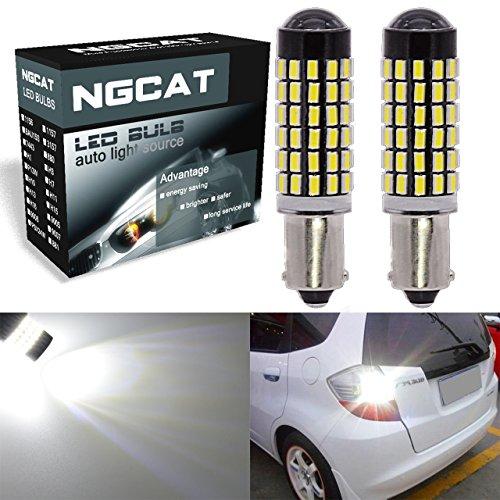 LED-Glühbirnen von Ngcat, 2 Stück, 900 Lumen, SMD-3014-Chipsatz mit 78 LEDs, BA9, BA9S, 53, 57, 1895, 64111, für Blinker, Rückfahrlicht, Rücklicht, Xenon-Weiß, 6500 K, 12-24 V, 4W