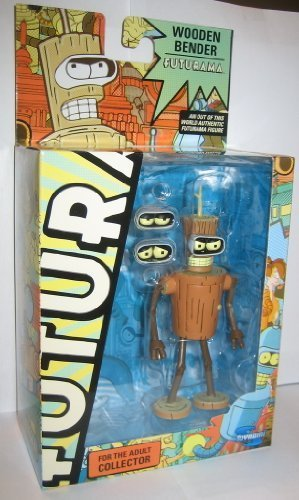 Futurama Toynami Series 9 Action Figure Wooden Bender by Toynami (English Manual), Figurines & gadgets