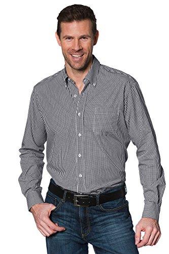 JP 1880 Homme Grandes tailles Chemise à carreaux - Manches Longues - Pour Homme - Grande Taille 703646 Noir