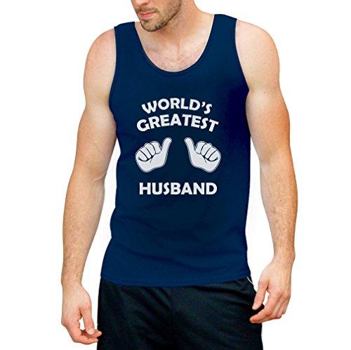 World's Greatest Husband Tank Top - Cooles Motiv / Kleidung für den Eheman / Hochzeitstag Jubiläum Blau