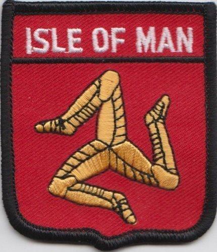 Isle of Man Manx Flagge bestickt Patch Badge (Flag Kostenlos Mens)