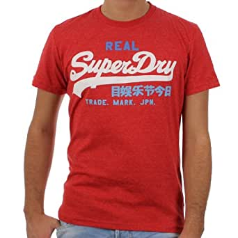 Superdry - Tee Shirt Superdry Vintage Logo Tri Color Entry Ms1hx071 Rouge