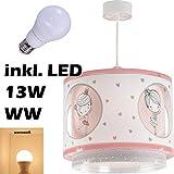 LED Lampe Kinderzimmer Decke Pendelleuchte Ballerina 70912 Warmweiß 1300lm Mädchen