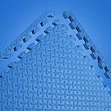 LFY Puzzle Schiuma Gioca Mat Solid Color for Kids - 4/6/8/12/16 Piastrelle (Colore : Blu, Dimensioni : 4 Piece)
