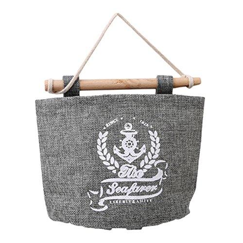 Lalang Navy Stil Multifunktionale Wohnzimmer Schlafzimmer Hängenden Tasche , Haushaltsartikel Organisator Lagerung Schutt Aufbewahrungsbox Tasche (Weizen)