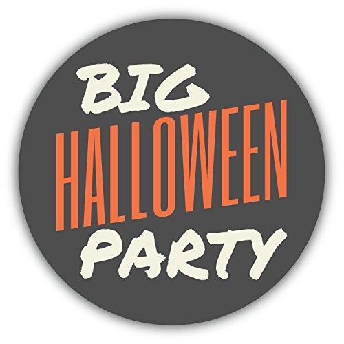 Big Halloween Party Retro Hochwertigen Auto-Autoaufkleber 12 x 12 cm (Halloween-lebensmittel Für Partys)