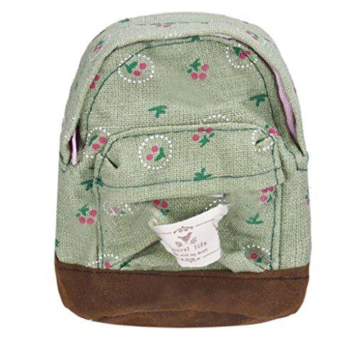 Preisvergleich Produktbild Tomatoa Damen Daypack Rucksack Reisetasche Canvas Rucksack Vintage Rucksack Schulrucksack mit Großer Kapazität Reisetasche (Grün)