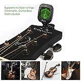 Mugig Clip-on Stimmgerät / Tuner für Gitarre, Ukulele, Bass, Geige, CE FCC Zertifiziert, Rohs-konform, Chromatisches Stimmgerät mit Batterie, Automatisch Ausgeschaltet - 4