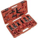 ALKAN Spezial Zangen SATZ SET für selbstspannende Federbandschellen Schlauchklemmen Schlauchschellen, 9-tlg.