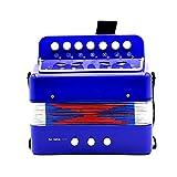SODIAL Mini Petit Clavier d'Enfants Accordeon Rythme Educatif Instrument Musical Bande Jouet pour Enfants Bleu