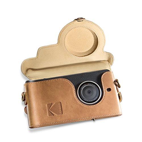 Kodak Ektra Phone Kameratasche aus Leder, Brown/Yellow - Kodak Smartphone