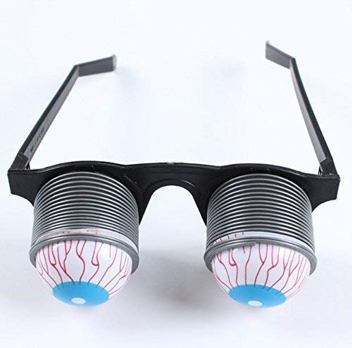VPlus 5 STÜCKE Streich Witz Spielzeug Lustige Horror Pop Out Augen Gläser Tropfen Augapfel Gläser Trick Neuheit Spielzeug Klassisch für Halloween Kostüm Parteien Witz Geschenk