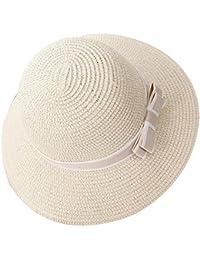 Mujer   Chicas Sombrero de Playa   Sombrero para el sol   Sombrero de paja   3a43f88bc0e