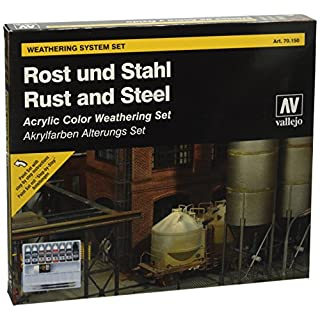 Vallejo Model Rust and Steel Effects Color Set