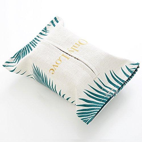 DHG Schwarz-Weiß-Ton Goldenen Stoff Papierhandtuch Tasche Handtuch-Sets aus Baumwolle Leinen Papier Box Dekoration Wohnzimmer Auto Tissue-Box,C,Durchschnittlicher Code