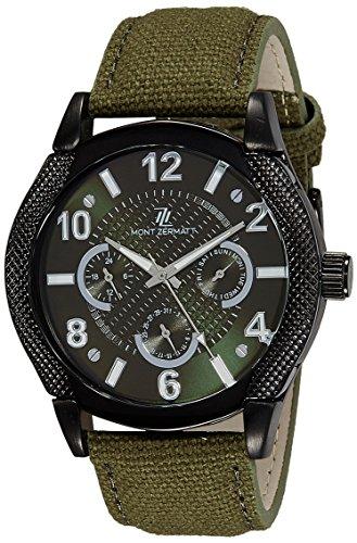 Mont Zermatt Analog Green Dial Men's Watch - MZ10641 BL GREEN