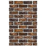 MUTANG Retro Industrie Wind 3D Stereo Nachahmung Ziegelstein Muster Brick Wallpaper Cafe Restaurant Bar Bekleidungsgeschäft Red Brick Wallpaper (Farbe : E)