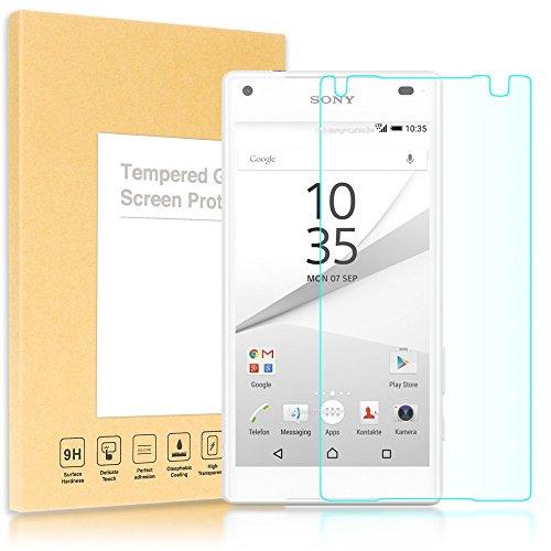 delightable24 Pellicola Protettiva Vetro Temprato Glass Screen Protector Smartphone SONY XPERIA Z5 COMPACT (MINI) - Transparente