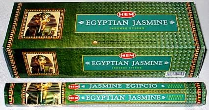 EGYPTIAN JASMINE INCENSE STICKS (6 PACKS=120 STICKS) WITH STICK HOLDER BY STERLING EFFECTZ