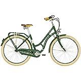 Bergamont Summerville N7 FH 28'' Damen Retro City Fahrrad Beere grün/beige 2019: Größe: 48cm (165-170cm)