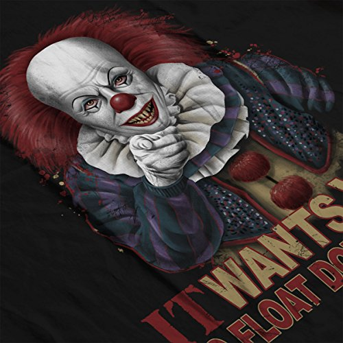 Stephen King Pennywise The Clown Uncle Sam Women's Hooded Sweatshirt Black