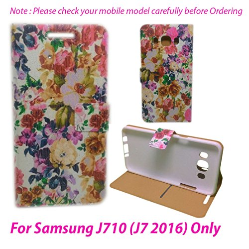For Samsung Galaxy J710 (J7 2016) Flip Cover Case : DEKKIN Designer Fancy Premium Flip Cover Case For Samsung Galaxy J710 (J7 2016) - DESIGN27