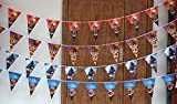 Dylandy Bunting Banner Pennant Flag Halloween Flag Double Sided Paper Triangle Bunting Pumpkin Banner Ghost Spooky Pennant Banner Hanging Ornament For Party Home Kindergarten Decoration