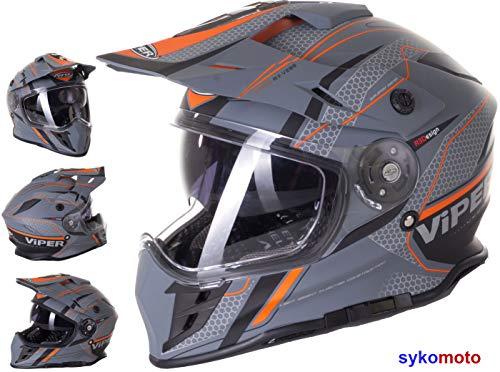 MOTOCROSS HELM RX-V288 VENTURA QUAD ATV DIRT TRIAL TRACK ENDURO HELMET MTB INTEGRAL M -