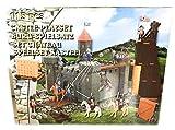 Ritterburg für Kinder ab 3 Jahre, 115 Teile, Größe ca. 34 x 34 x 22/37 cm