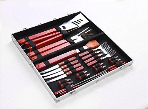 Joyeee® 25ST Hohe Qualität Edelstahl Grillbesteck-Set mit Aluminium Aufbewahrungskoffer - Perfekte Schwerlast Professionelle Grill-Werkzeug BBQ Zubehör Kit