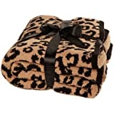 """Barefoot Dreams """"Barefoot in the Wild"""" Throw Blanket - Leopard"""