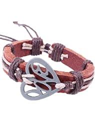 SUYA pulseras,3 PC, aleación de pulsera en forma de corazón colgante de piel de vaca, joyería personalizada, pulsera retro, joyería, pulsera creativo, regalo creativo